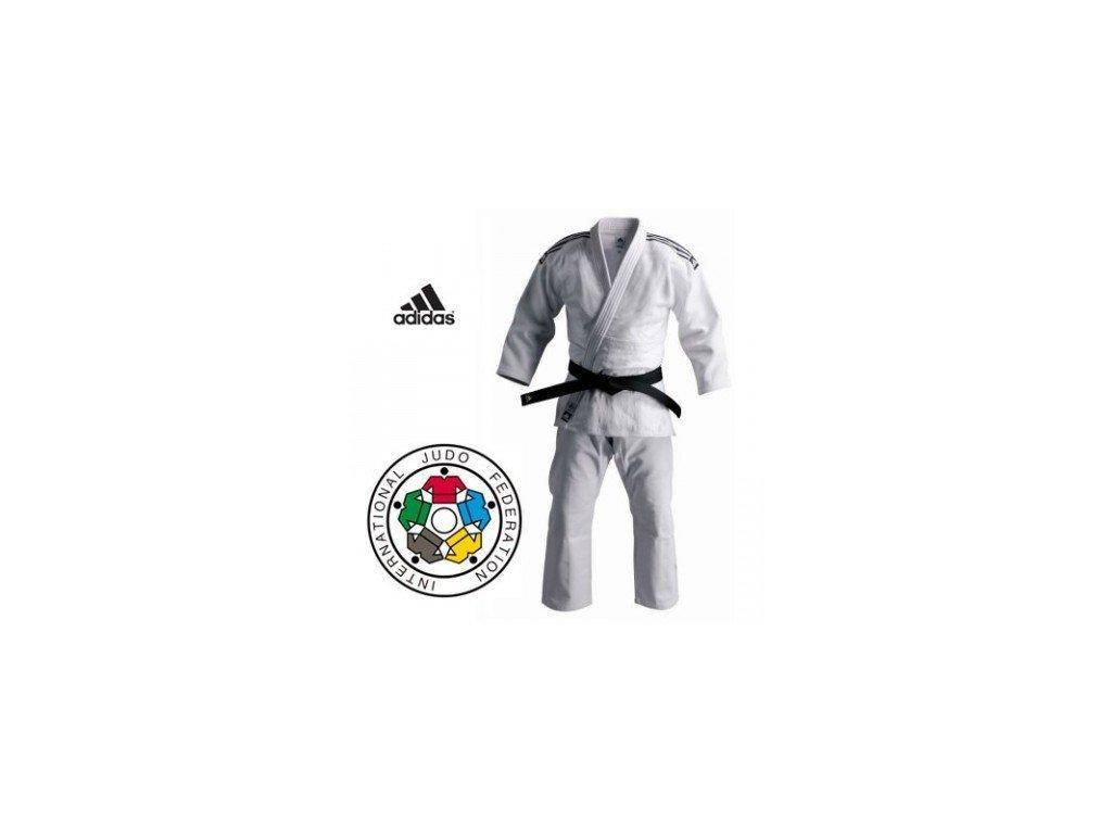 Kimono na judo IJF ADIDAS CHAMPION II Široké / Regular - bílé