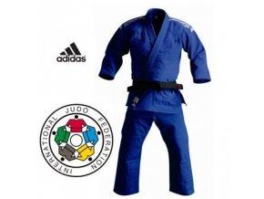 Kimono na judo IJF ADIDAS CHAMPION II Regular - modré