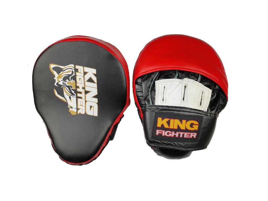 Boxerské lapy King Fighter červená/černá