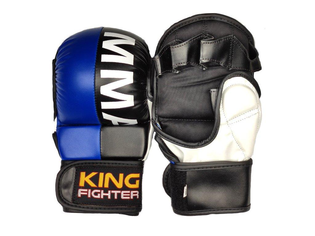 MMA rukavice double (modrá/černá)
