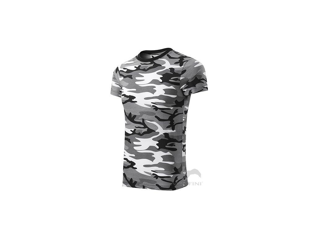 Triko Camouflage  (bílá/černá)