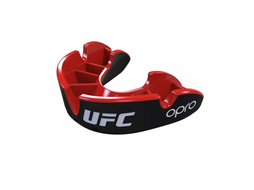 Chrániče zubů OPRO UFC silver (černá/červená)