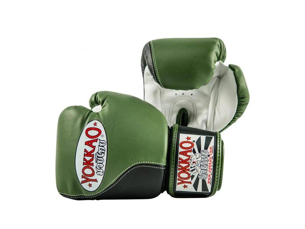 Boxerské rukavice Yokkao Impact (zelená/černá)