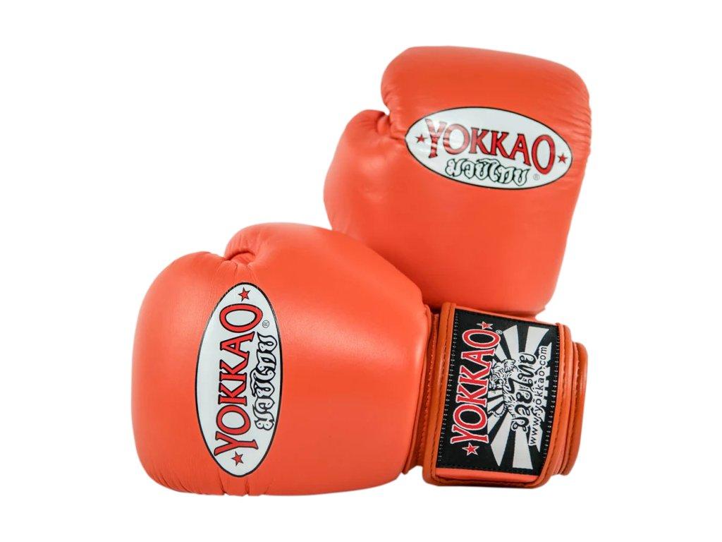 Boxerské rukavice Yokkao (tomato)