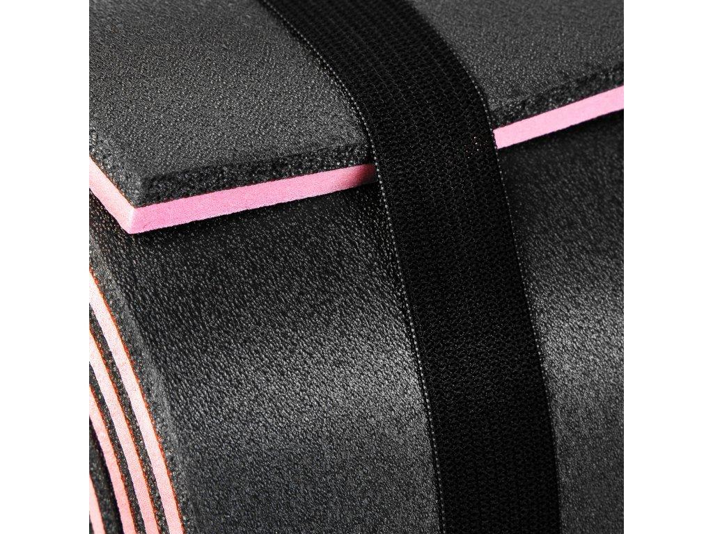 Spokey CAMPINOS Karimatka XPE 2 vrstvy, 180x50x1,2 cm, černo-růžová