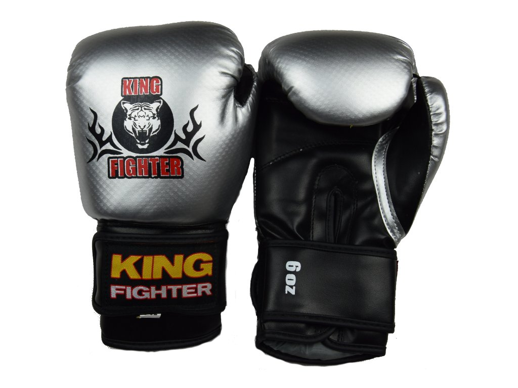 Dětské boxerské  rukavice carbon stříbrné