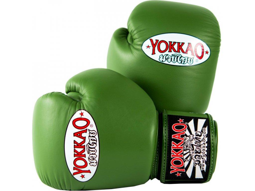 Boxerské rukavice Yokkao zelené