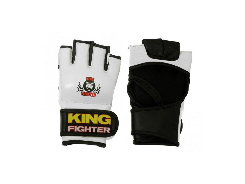 MMA rukavice King Fighter bílé