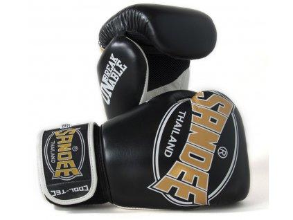 Boxerské rukavice Cool-Tec Sandee černá/zlatá/bílá