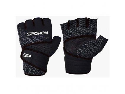 Spokey LAVA Neoprenové fitness rukavice, černo-bílé, vel. XL