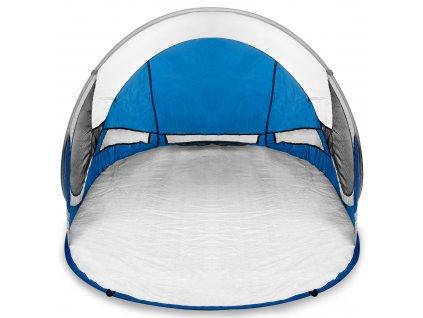 Spokey STRATUS Samorozkládací outdoorový paravan, UV 40, 195x100x85 cm - bílo-modrý