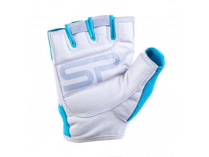 Spokey ZOE II Dámské Fitness rukavice bílo-tyrkysové vel.M