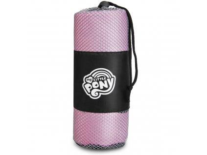Spokey HASBRO PINKIE Rychleschnoucí sportovní ručník, 80x160 cm, černo-bílý, zn. MY LITTLE PONY