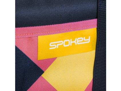 Spokey ACAPULCO Termo taška malá, růžovo-modro-žlutá, 39 x 15 x 37 cm