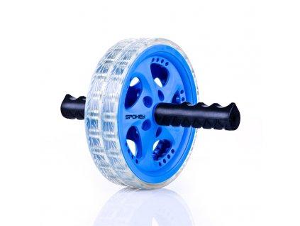 Spokey TWIN B II Dvojité posilovací kolečko modré