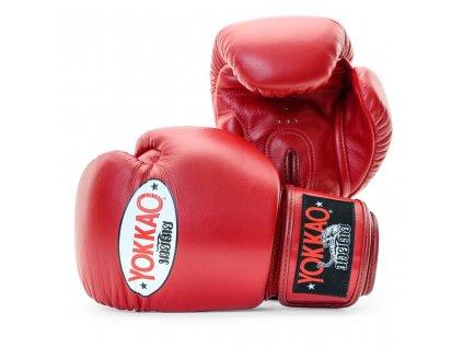 Boxerské rukavice Yokkao červené