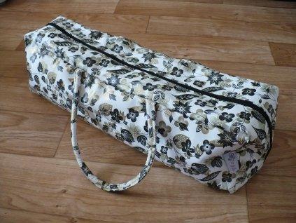 Yoga bag bla/gold květina
