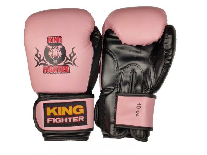 Boxerské rukavice BASIC růžová/černá