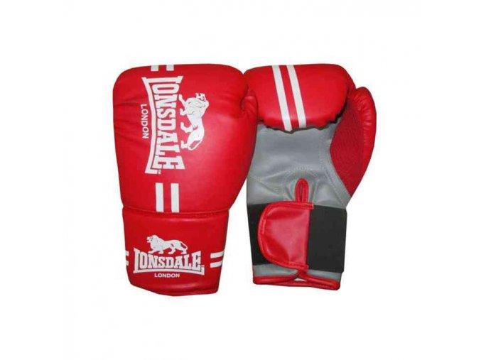 Dětské boxerské rukavice Lonsdale červené