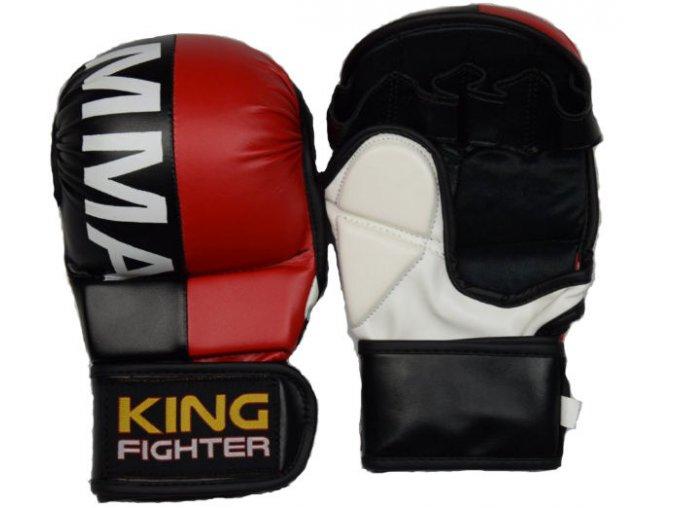 MMA rukavice double (červená/černá)