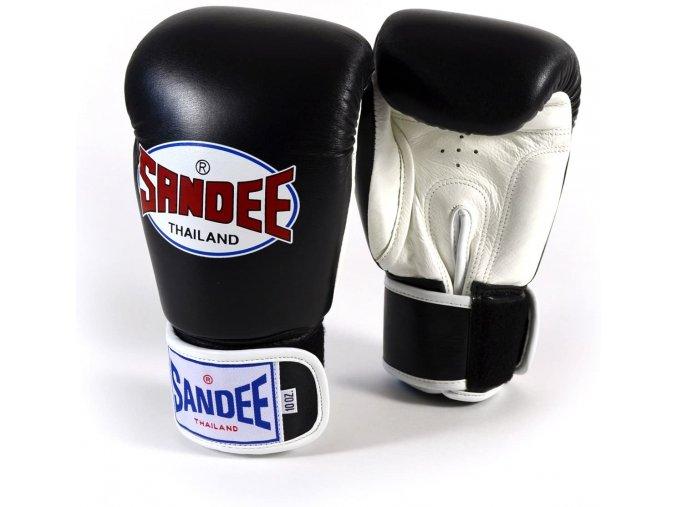 Boxerské rukavice Sandee černá/bílá