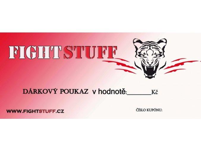 Dárkový poukaz FightStuff v hodnotě:  1000 Kč