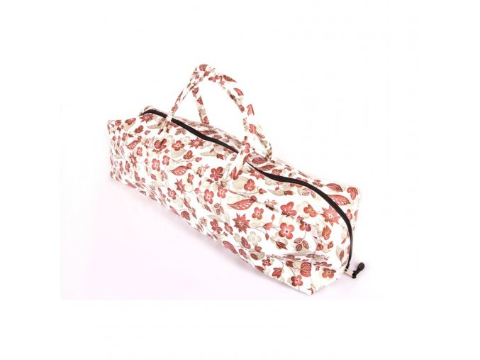 Yoga bag meroon/gold flowers (71x18x19,5cm)
