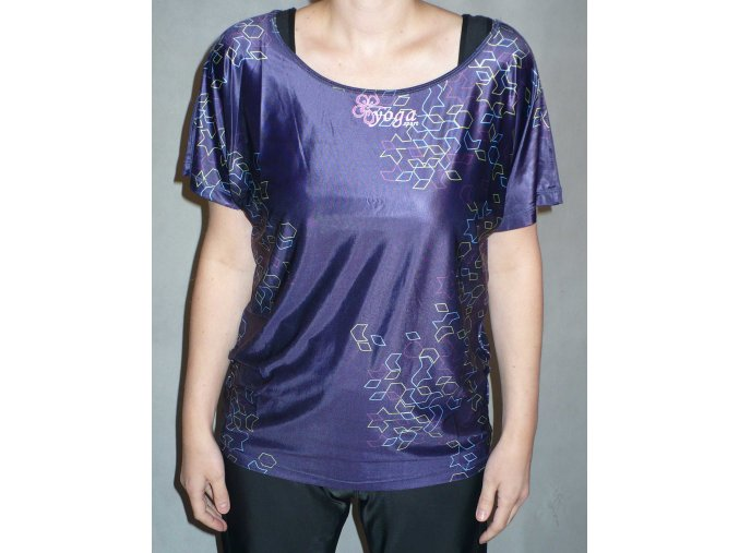 Triko yoga extra wide purple