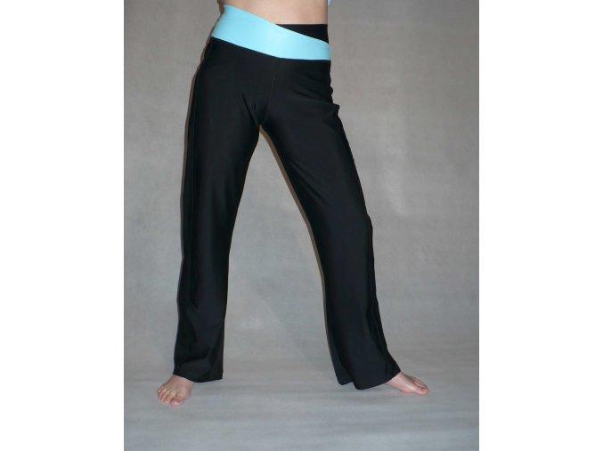 Yoga kalhoty black/light blue