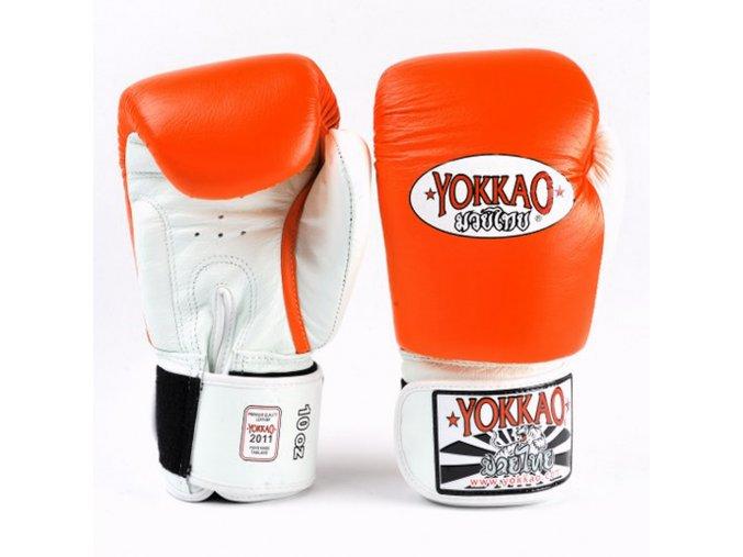 Boxerské rukavice oranžové Yokkao