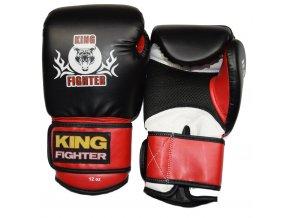 Boxerské rukavice BASIC černá/červená