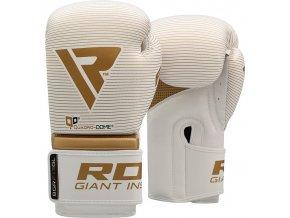 Boxerské rukavice RDX  bílé/zlaté