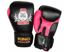Boxerské rukavice BASIC černá/růžová