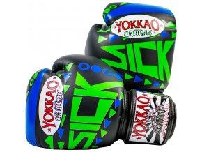Boxerské rukavice  Yokkao Sick Blue