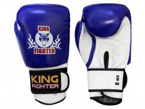 Dětské boxerské  rukavice carbon modré