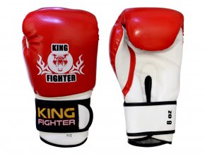 Dětské boxerské  rukavice carbon červené