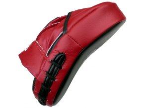 Boxerské lapy  černé/červená  (PU)