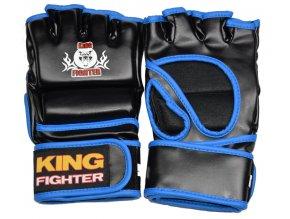 MMA rukavice King Fighter PU (černá/modrá)