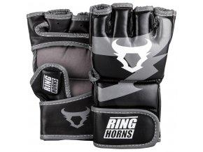 MMA rukavice Ring Horns čená/bílá