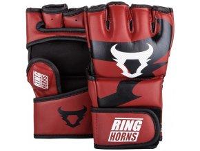 MMA rukavice Ring Horns Nitro černá/červená