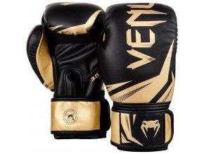 Boxerské rukavice Venum Challange černá/zlatá