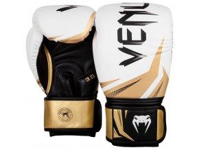 Boxerské rukavice Venum Challange bílá/zlatá
