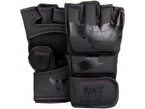 MMA rukavice Ring Horns Charger černá matná