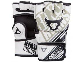 MMA rukavice Ring Horns Nitro bílé