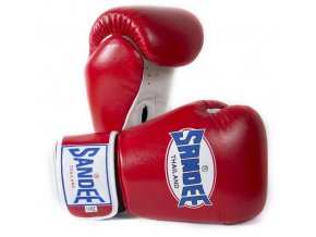 Boxerské rukavice Sandee červená/bílá