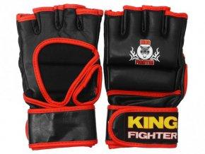 MMA rukavice černá/červená