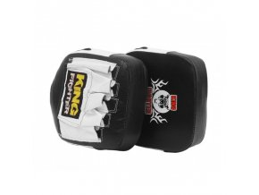 Boxerské lapy King Fighter černá/bílá