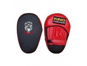 Boxerské lapy King Fighter černá/červená