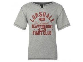 Triko Lonsdale (šedé fight club)