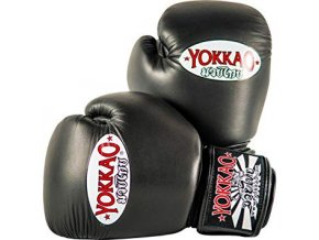 Boxerské rukavice černé Yokkao